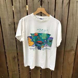 Vintage 90s Maui Hawaii Men's Graphic Shirt